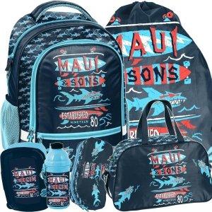 Chłopięcy Plecak Szkolny Maui&Sons Rekiny [MAUL-260]