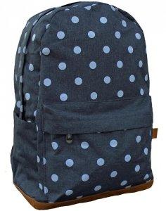 Plecak w Kropki dla Dziewczynki Młodzieżowy Szary [607801]