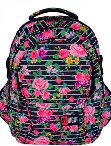 Plecak Młodzieżowy St.Right LIGHT ROSES [BP01]