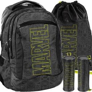 Plecak Marvel Szary Młodzieżowy Szkolny BeUniq Modowy [AMAV-2808]
