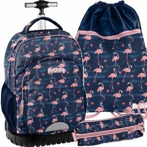 Super Plecak na Kółkach Młodzieżowy Flamingi Damski [PPNG20-1231]