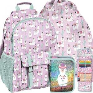 Dla Dziewczyny Plecak Lama Szkolny Kolorowy [PP19LA-810]