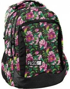 Plecak Kwiaty Młodzieżowy Szkolny dla Dziewczynki [PPLK19-2808]