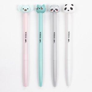 4 szt Długopisy Automatyczne z Figurkami Zwierząt [DAFDKAD]