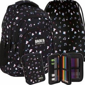 Modny Plecak Tik Tok BackUP Szkolny Młodzieżowy Nuty [PLB4A16]