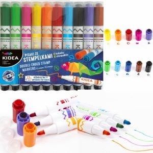 Pisaki ze Stempelkami 10 Kolorów Flamastry Kidea dla Dzieci [PS10KA]