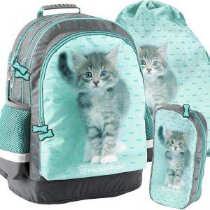 Szkolny Plecak z Kotkiem Kotkami dla Dziewczyny [RLC-116]