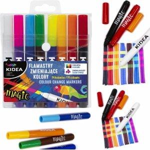 Magiczne Flamastry Pisaki Zmieniające Kolor Kidea Markery [FZKKA]