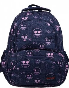 Plecak Emoji Pink St.Majewski Młodzieżowy Szkolny [BP7 EMOJI PINK]