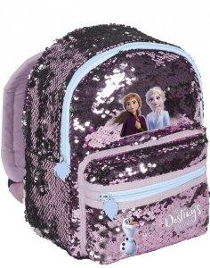 Plecak Kraina Lodu z Cekinami dla Dziewczynki na Wycieczki do Przedszkola [DOE-355]