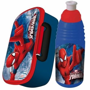 Śniadaniówka Bidon Spiderman dla Chłopaka Komplet [604600]