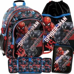 Spider Man Chłopięcy Plecak do Szkoły do 1 klasy Venom Komplet [SPX-090]