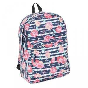 Plecak Vintage Młodzieżowy Szkolny dla Dziewczyny Kwiaty