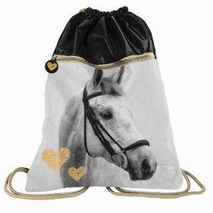 Duży Worek Konie dla Dziewczyny na Obuwie Buty Kapcie 2 Komorowy [PP20H-713]