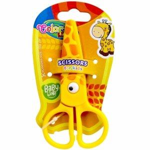 Nożyczki Plastikowe dla Dziecka 12,5 cm Colorino Bezpieczne Żyrafa [37275PTR]