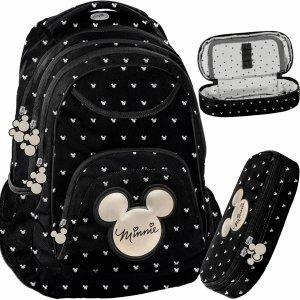 Modny Plecak Myszka Mini Minnie dla Dziewczynki Nastolatki Ciemny [DIBL-2708]