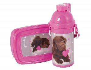 Bidon Śniadaniówka Pies Labrador w Kartoniku dla Dziewczyny RHP-3020