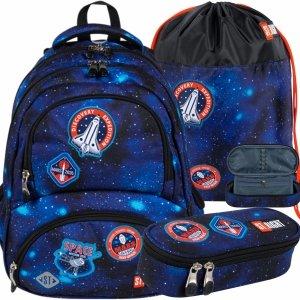 St.Right Plecak Młodzieżowy NASA Kompplet Chłopięcy COSMIC MISSION [BP7]
