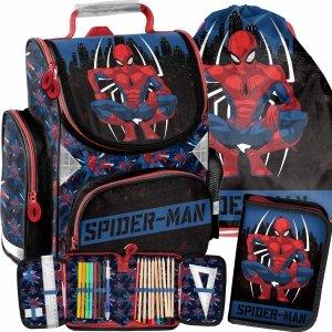 Szkolny Tornister SpiderMan do 1 Klasy Paso Komplet [SPY-525]