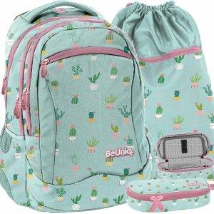 Plecak Kaktusy Młodzieżowy Szkolny Dziewczęcy Miętowy [PPMT20-2808/16]
