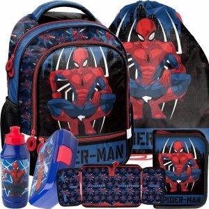 Chłopięcy Plecak Szkolny SpiderMan Zestaw 5w1 [SPY-260]