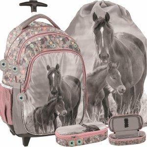 Plecak z Kółkami w Konie Szkolny dla Uczennicy Paso [PP20KO-997]