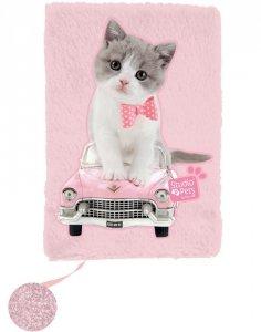 Pamiętnik dla Dziewczyny Pluszowy z Kotem [PET-3670]