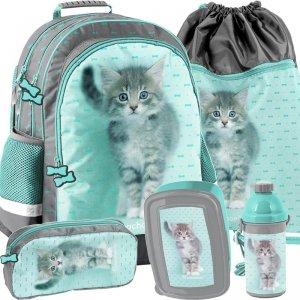 Szkolny Plecak dla Dziewczyny do Szkoły Kotki Koty [RLC-116]
