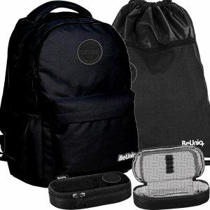 Plecak Vintage Czarny Młodzieżowy BeUniq Paso [PPNE20-2705]