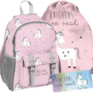 Plecak Jednorożec dla Dziewczyny Szkolny Różowy [PP19UN-810]