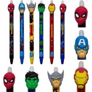 6 szt. Długopis Wymazywalny Ścieralny z Gumką Iron Man [57905PTR]