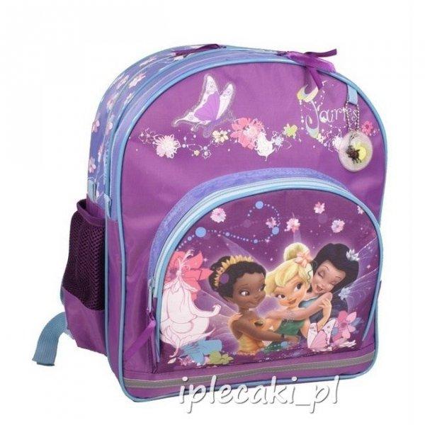 Zestaw Szkolny 3w1 : plecak szkolny+piórnik z wyposażeniem+worek gimnastyczny Wróżka Wróżki Dzwoneczek