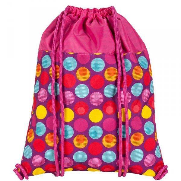 Worek na Buty Obuwie Gimnastyczny Młodzieżowy Plecak Różowy