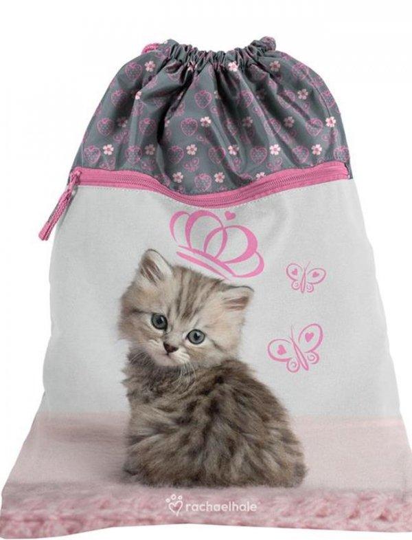 Plecak z Kotem Kot Szkolny dla Dziewczynki Zestaw [RHV-090]