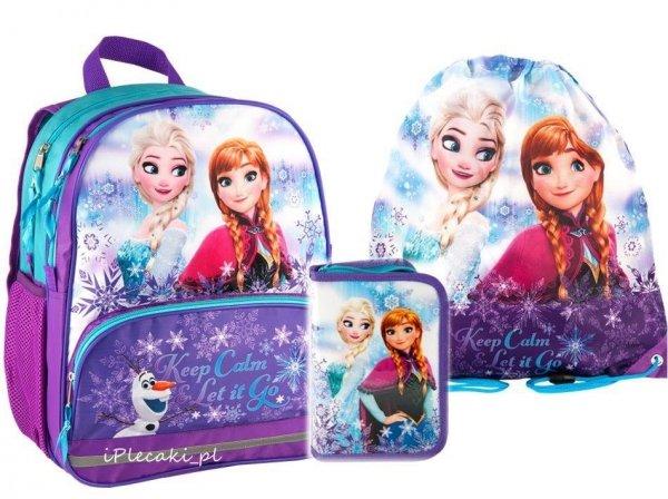 plecak piórnik worek kraina lodu frozen dla dziewczynki DFY-156