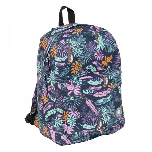 Plecak Vintage Młodzieżowy w Kolorowe Listki dla Dziewczyny17-780L