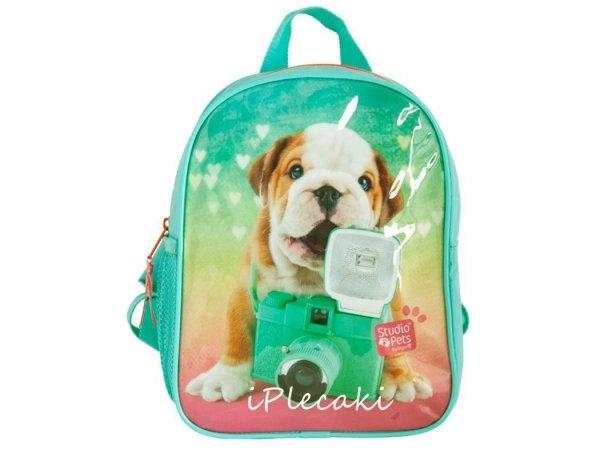 plecaczek do przedszkola plecak dla przedszkolaka dziewczynki z pieskiem pies piesek zielony