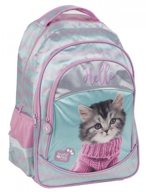 Plecak Szkolny z Kotkiem dla Dziewczyny Różowy [PEZ-181]