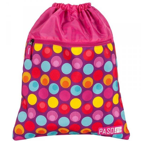 Worek na Buty Obuwie Gimnastyczny Młodzieżowy Plecak Różowy 17-713UH