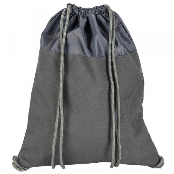 Worek na Buty Obuwie Gimnastyczny Młodzieżowy Plecak Szary