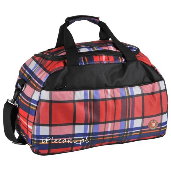 torba sportowa na podróż wakacje w kratkę