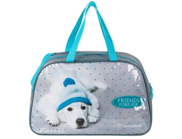 torba dziecięca z pieskiem w czapce na basen wakacje podroż podróżna sportowa