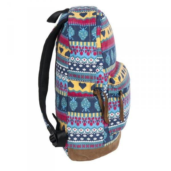 Plecak Vintage dla Dziewczyny Młodzieżowy Szkolny Indiański Wzór 17-223G
