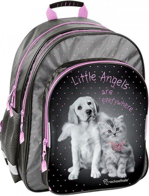 Plecak Szkolny Pies Kot Komplet dla Dziewczyny piórnik worek RHG-090