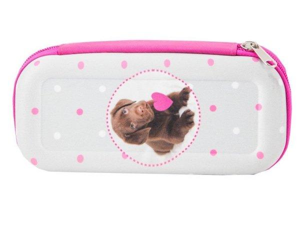 Piórnik Etui Szkolny Pies Labrador dla Dziewczyny