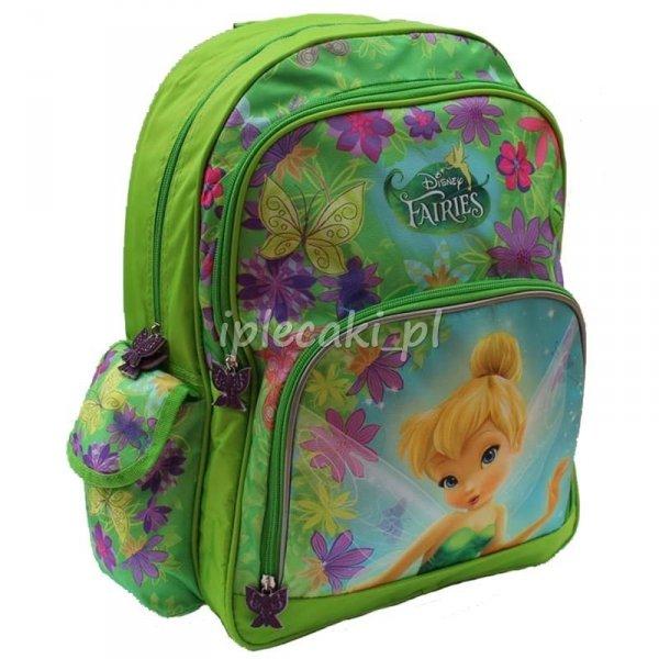 Zestaw Szkolny 5w1: plecak szkolny+piórnik+worek gimnastyczny+bidon+śniadaniówka Wróżka Wróżki Dzwoneczek