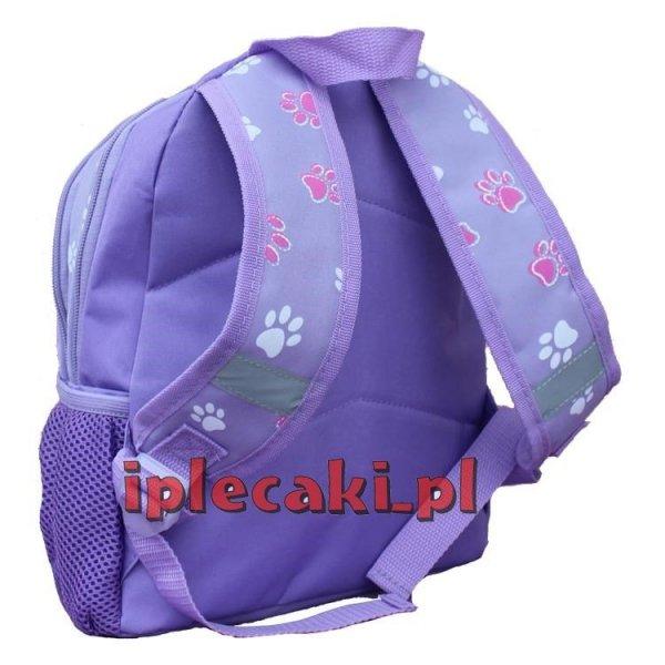 plecaczek przedszkolny wycieczkowy z psem dla dziewczynki