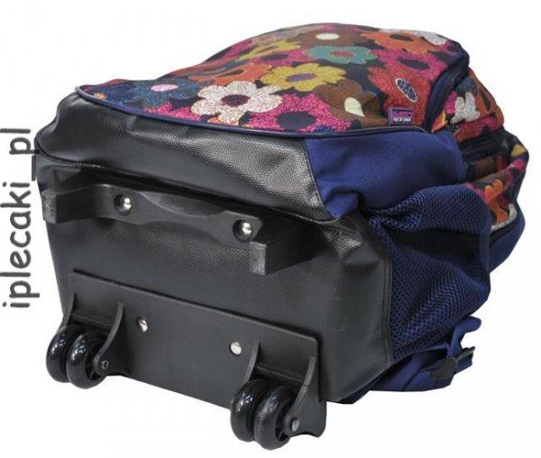 Plecak na kółkach Szkolny Paso Kwiaty [81-997I]