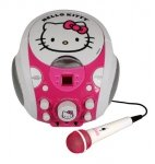 ZESTAW KARAOKE + MIKROFON HELLO KITTY BOOMBOX CD