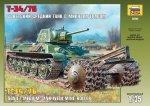 ZVEZDA 3580 SOV. T-34/76 W/ROLLER 1/35